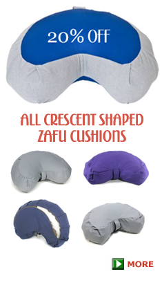 Crescent Zafu Meditation Cushion 20% OFF